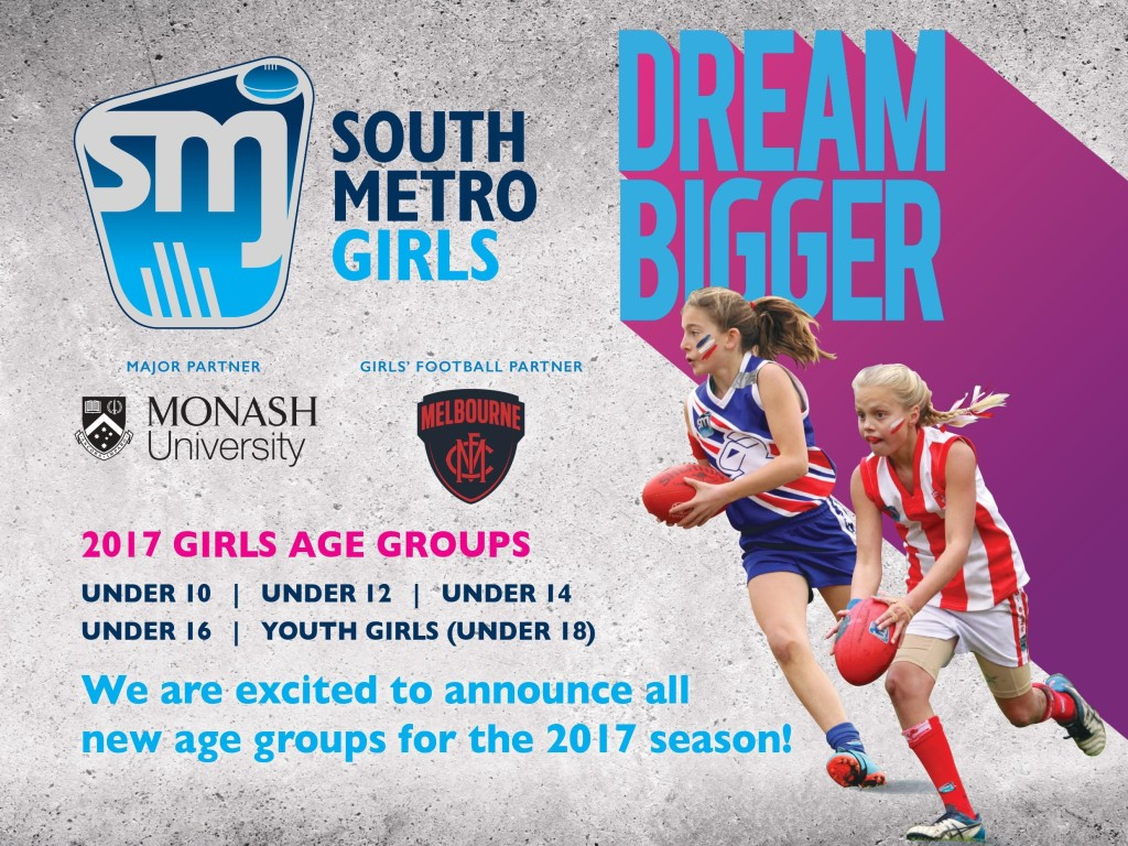 SMJFL Girls Footy 2017 Flyer Front Cropped