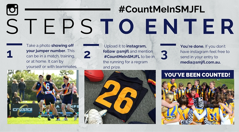 #CountMeInSMJFL Steps to Enter