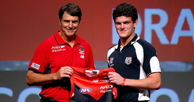 Brayshaw was drafted as the No.3 pick overall in the 2014 NAB AFL Draft.